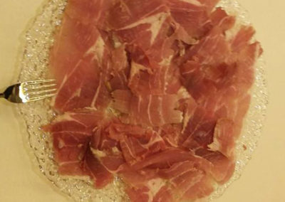 prosciutto tagliato a mano buffet catering coffee break puravida roma